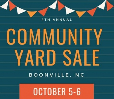 4th Annual Community Yard Sale- October 5th and 6th